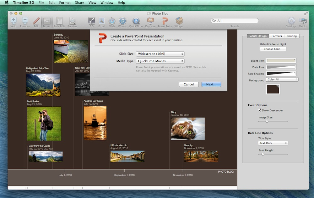 BEEDOCS Blog: Keynote, PowerPoint, and Timeline 3D