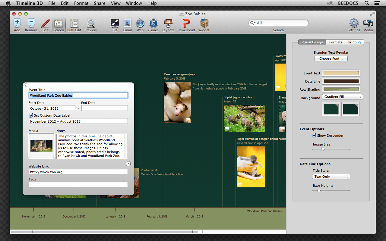 Timeline 3D v3.9 Screenshot